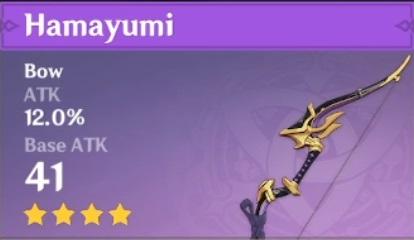 genshin inazuma weapon bow