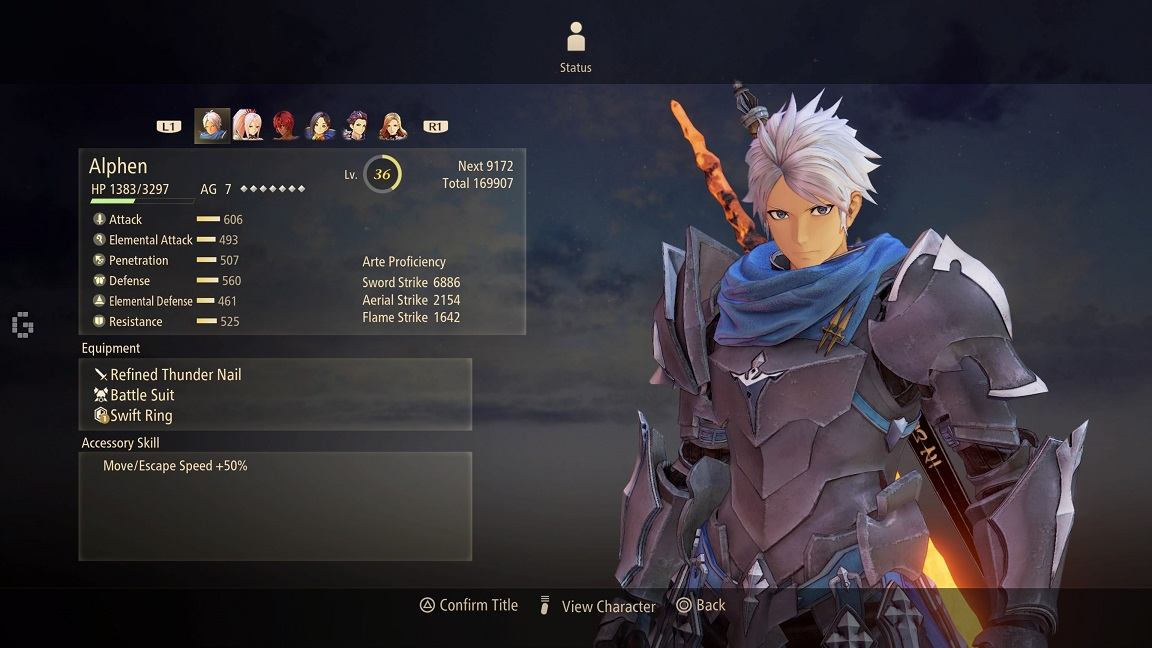 arise character overview alphen profile